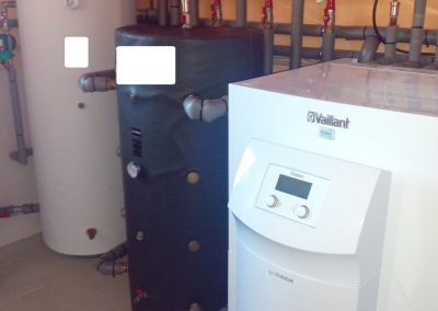 calefacción, sala calderas obra Asturias