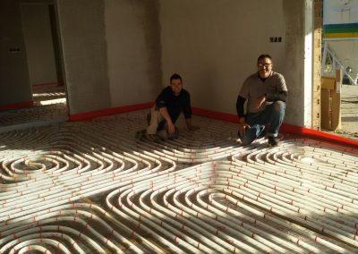 suelo radiante, calefacción, Asturias